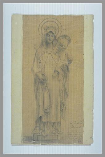 Copie d'une Vierge à l'Enfant sculptée_0