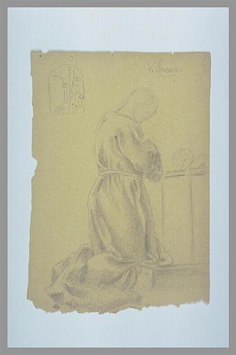 Saint Bruno agenouillé méditant ; reprise de l'ensemble de la composition