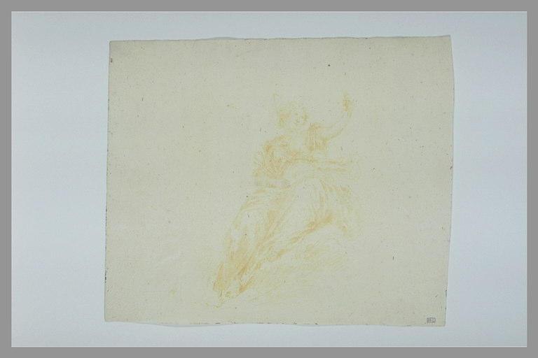 anonyme : Femme, assise, tenant un calice : la Foi (?)