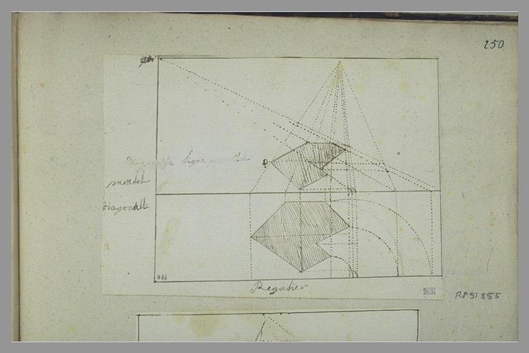 Croquis géométrique en perpective
