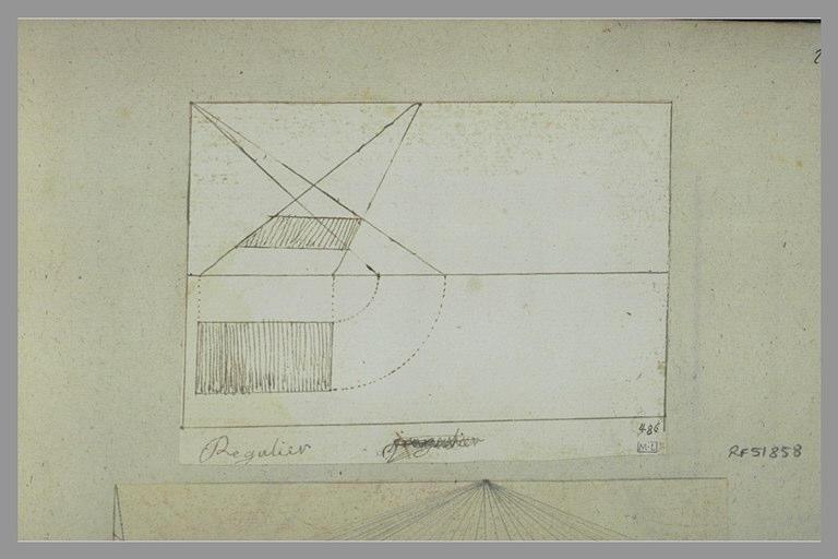 Croquis géométrique en perspective