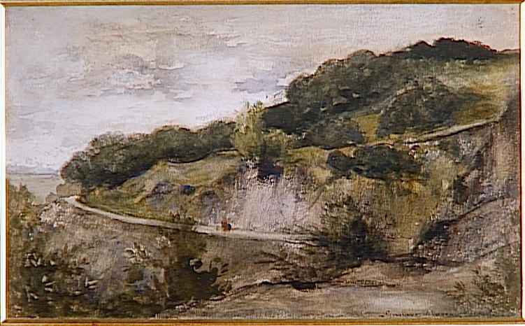 Paysage : jardin de Mme Aupick, mère de Baudelaire, à Honfleur