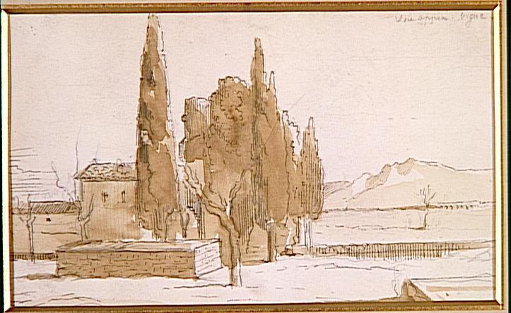 Paysage d'Italie. Via Appia_0