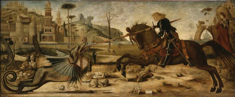 Saint Georges terrassant le dragon, d'après Carpaccio