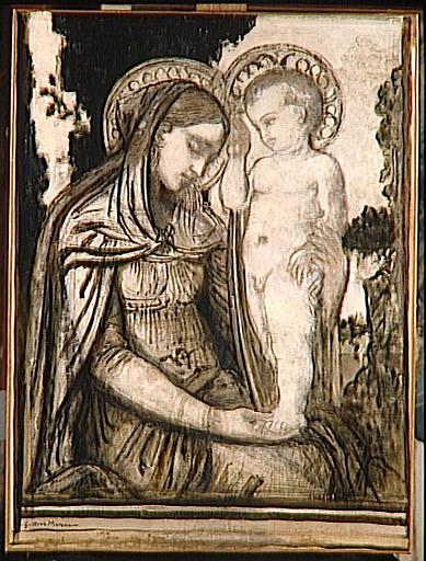 Jésus bénissant sa mère