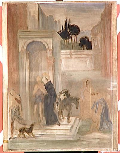 Saint François embrassant un lépreux_0