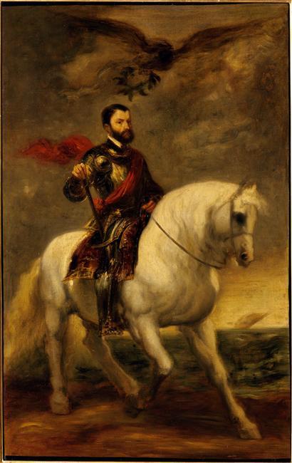 Portrait équestre de Simon de Montfort, copie d'après Van Dyck_0
