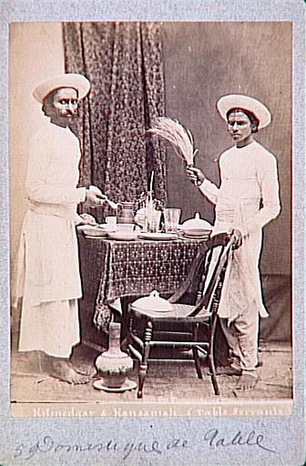 Kitmedgar et Kansaniah, deux serviteurs indiens