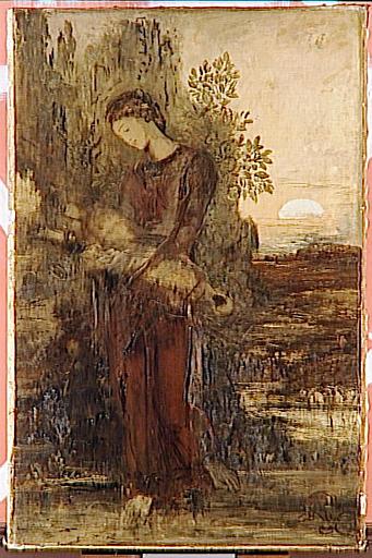Jeune fille thrace portant la tête d'Orphée_0