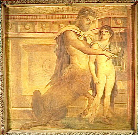 Achille et le Centaure Chiron, d'après une fresque antique_0