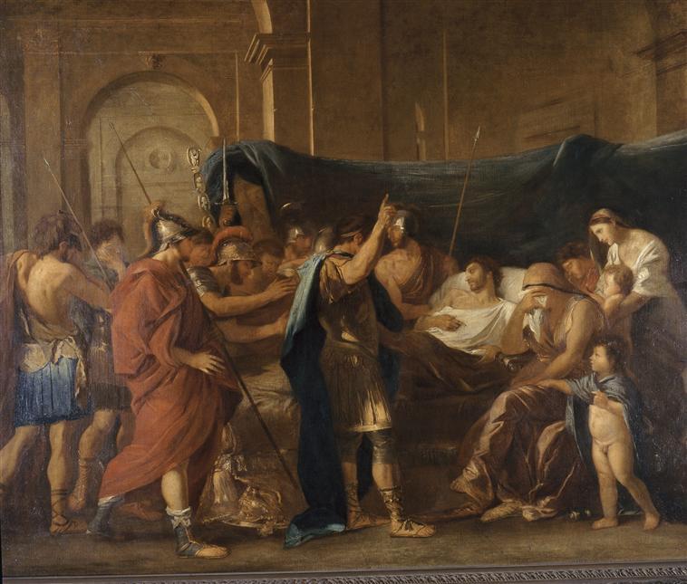 La Mort de Germanicus d'après Nicolas Poussin_0