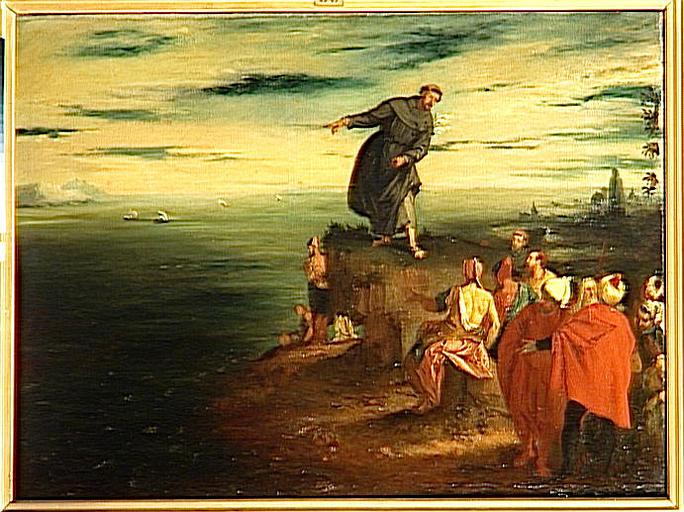 La prédication de saint Antoine de Padoue aux poissons, copie d'après Véronèse_0