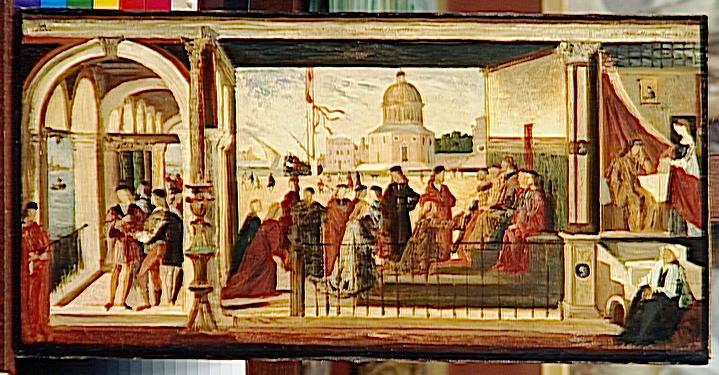 L'arrivée des ambassadeurs anglais du cycle de la Légende de sainte Ursule, copie d'après Carpaccio_0