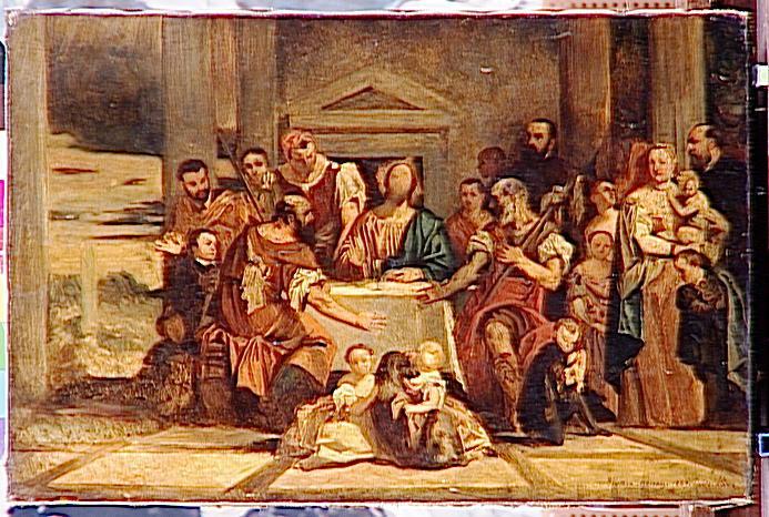 Les Pèlerins d'Emmaüs d'après Véronèse_0