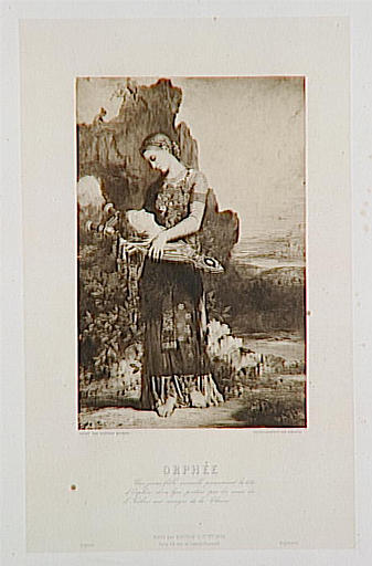 Reproduction du tableau de Gustave Moreau, Orphée du Salon de 1866_0