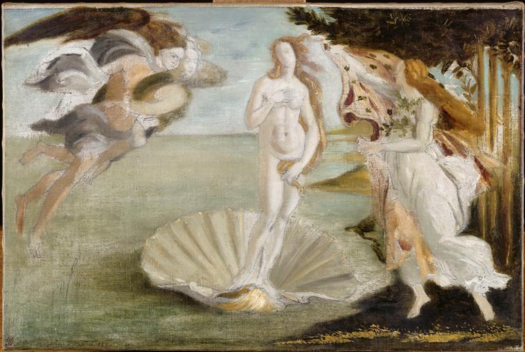 Naissance de Vénus, copie d'après Botticelli_0