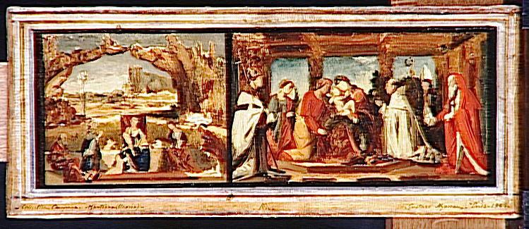Sainte Conversation, copie d'après Carpaccio et La circoncision copie d'après Zenale_0