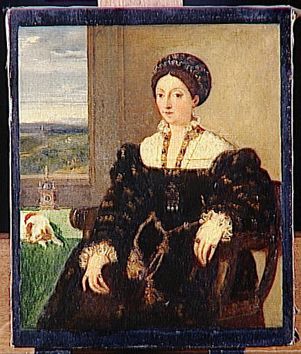 Eléonore de Gonzague, duchesse d'Urbin, copie d'après Titien_0