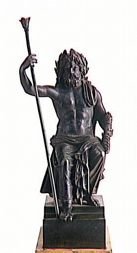 Neptune en bronze, d'après l'antique_0
