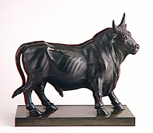 Taureau en bronze, d'après l'antique_0
