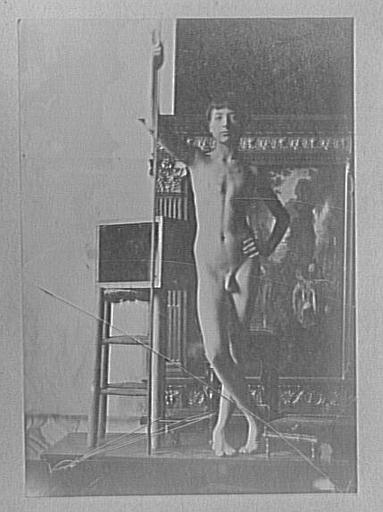 Modèle masculin dans l'atelier de Gustave Moreau : pose pour Les Argonautes_0