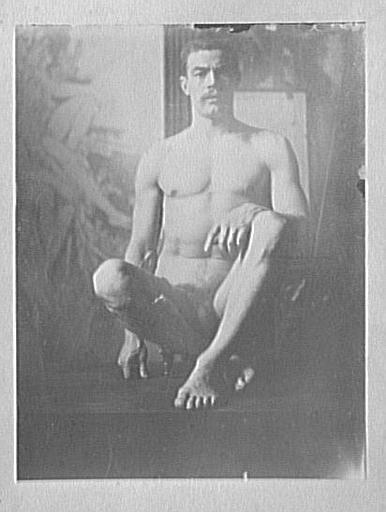 Modèle masculin dans l'atelier de Gustave Moreau : pose pour Les Argonautes