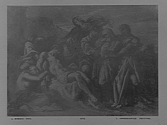 Reproduction du tableau de Gustave Moreau, la Pietà (Salon de 1852)_0