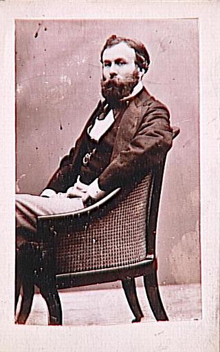 Portrait de Gustave Moreau assis dans un fauteuil (août 1874)