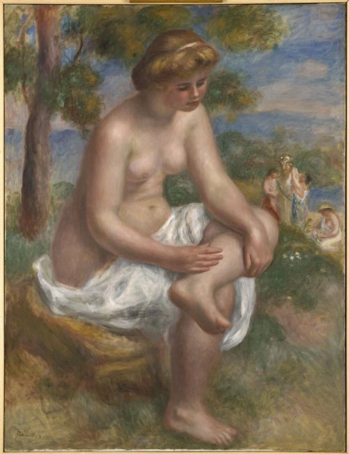 Baigneuse assise dans un paysage, dite Eurydice_0