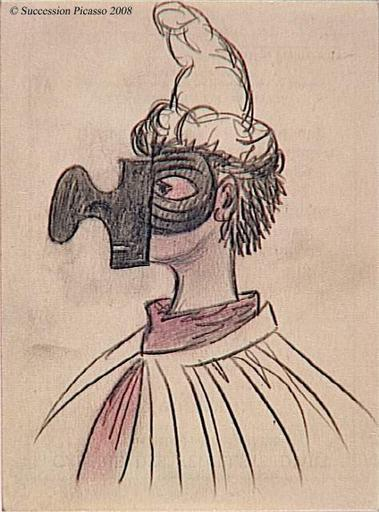 Ballet de Diaghilev - Etude du masque et du costume de Pulcinella, pour le ballet Pulcinella_0