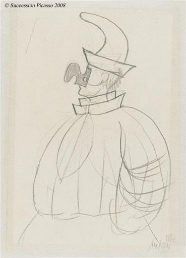 Ballet de Diaghilev - Etude du masque et du costume de Pulcinella pour le ballet Pulcinella_0