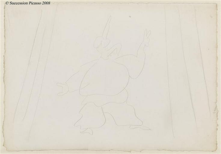 Ballet de Diaghilev - Etude du costume de Pulcinella, pour le ballet Pulcinella_0