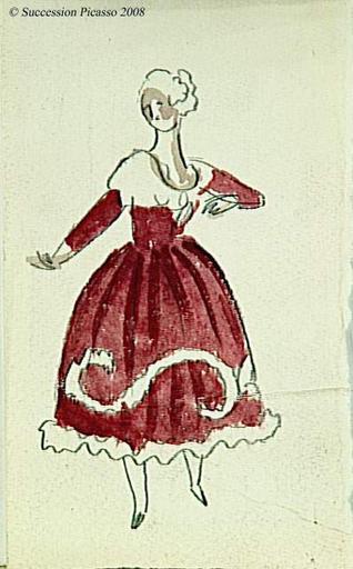 Ballet de Diaghilev - Etude de costume pour le ballet Pulcinella : Rosetta ?_0