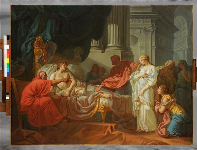 Erasistrate découvrant la cause de la maladie d'Antiochus_0