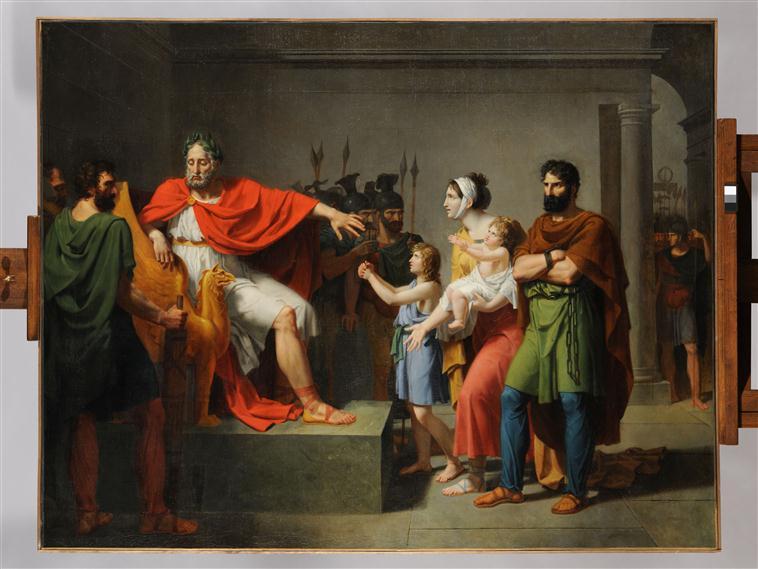 Sabinus et Eponine devant Vespasien_0