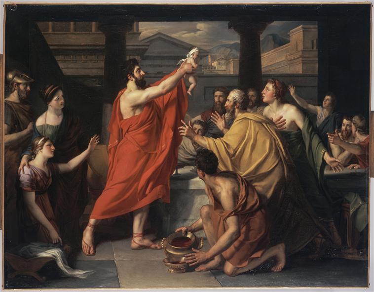 Lycurgue présente aux Lacédémoniens l'héritier du trône_0