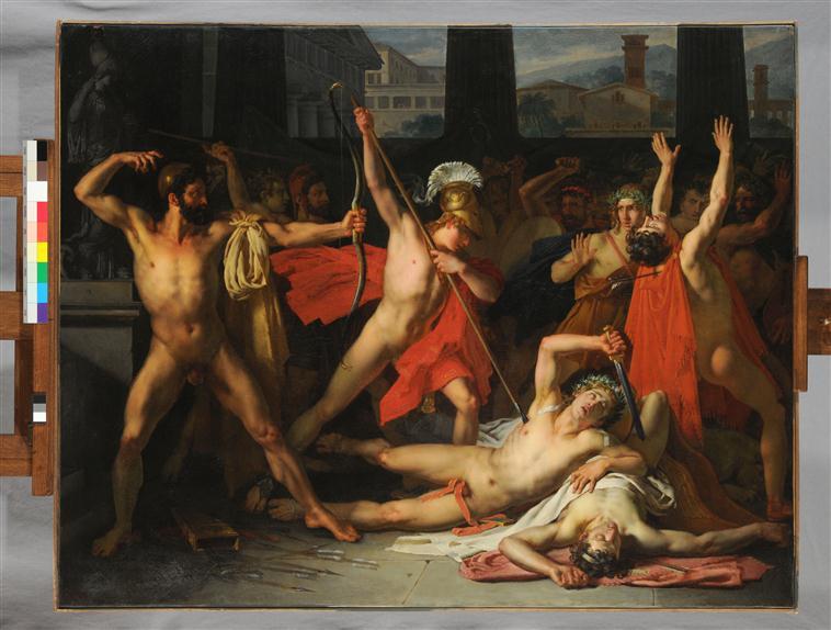 Ulysse et Télémaque massacrant les prétendants de Pénélope_0