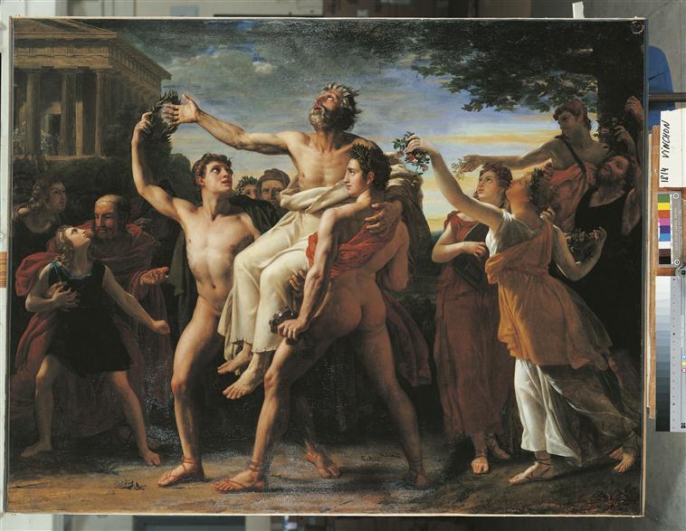 Diagoras porté en triomphe par ses fils_0