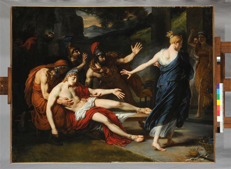 Oenone refusant de secourir Pâris blessé au siège de Troie_0