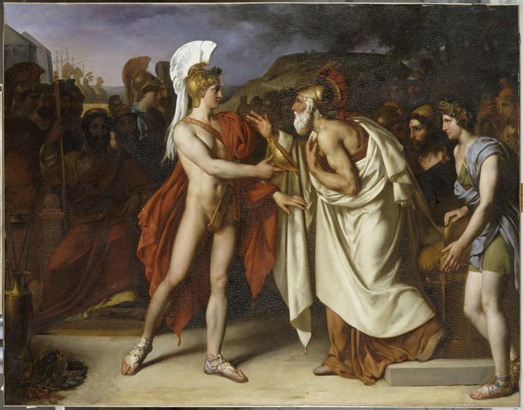 Achille donnant à Nestor le prix de la sagesse_0