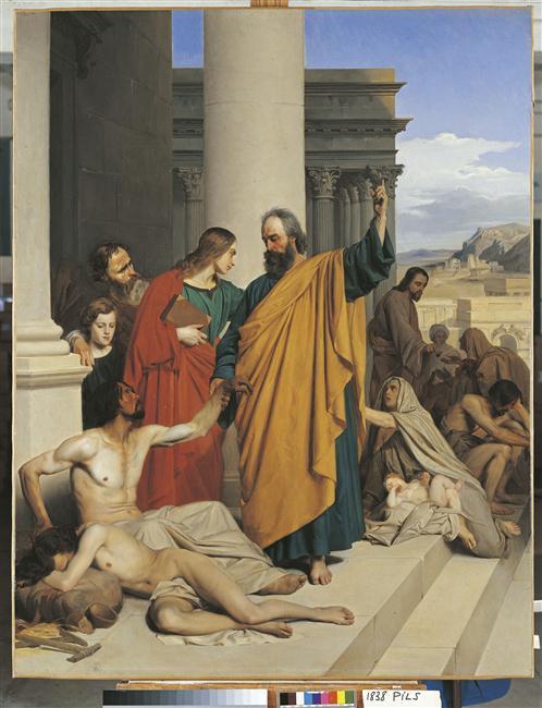 Saint-Pierre guérissant un boiteux à la porte du Temple_0