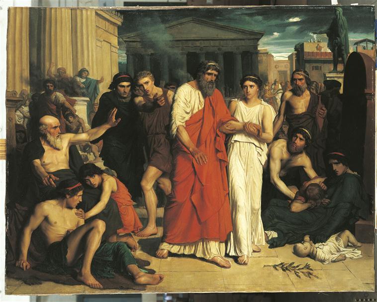 Oedipe et Antigone s'exilant de Thèbes_0