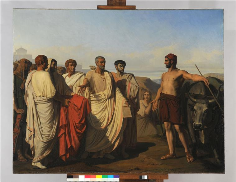 Cincinnatus recevant les députés du Sénat_0
