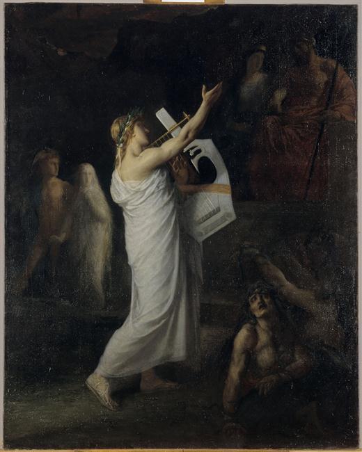 Orphée descendu aux Enfers demander Eurydice_0
