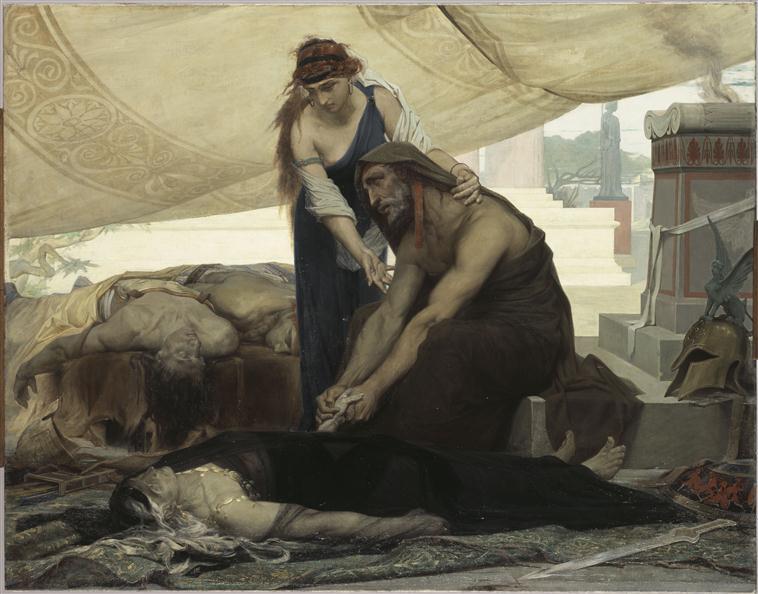 Les adieux d'Oedipe aux cadavres de sa femme et de ses fils_0