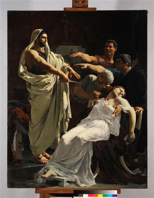 Le serment de Brutus après la mort de Lucrèce_0