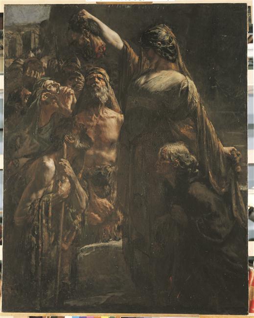 Judith montre la tête d'Holopherne aux habitants de Béthanie_0