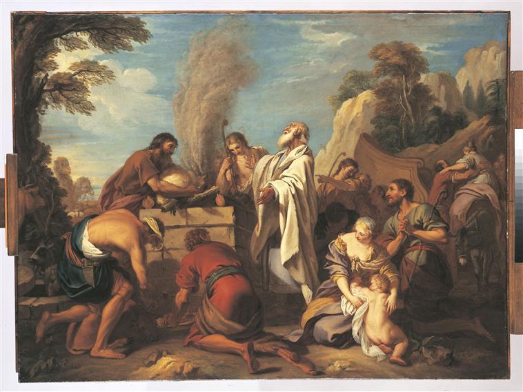 Manué offre un sacrifice au Seigneur pour obtenir un fils, qui fut Samson_0