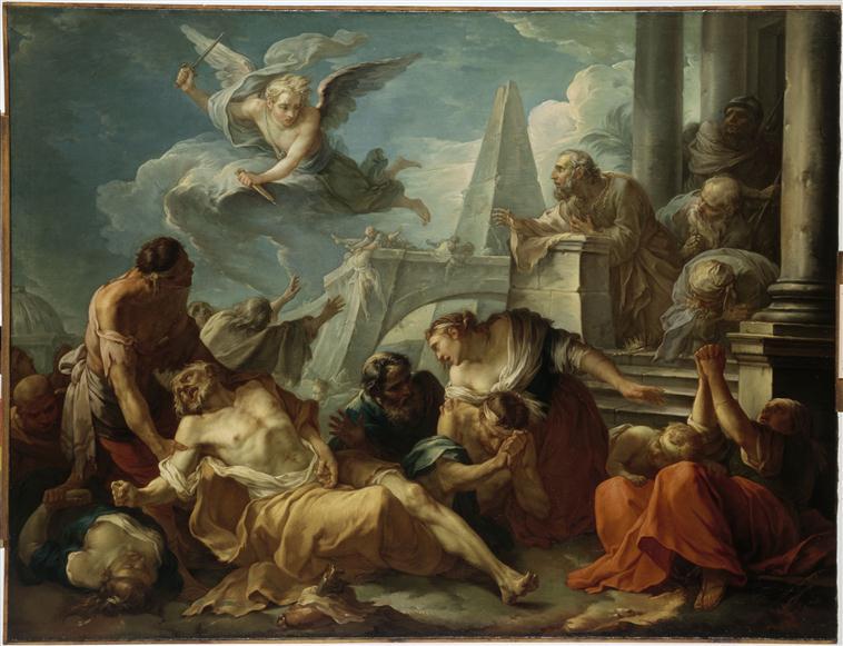 David se résigne à la volonté du Seigneur, qui a frappé son royaume de la peste_0