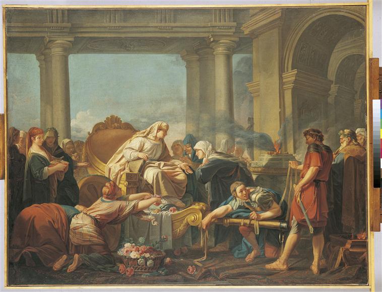 Cléobis et Biton conduisent le char de leur mère au temple de Junon_0